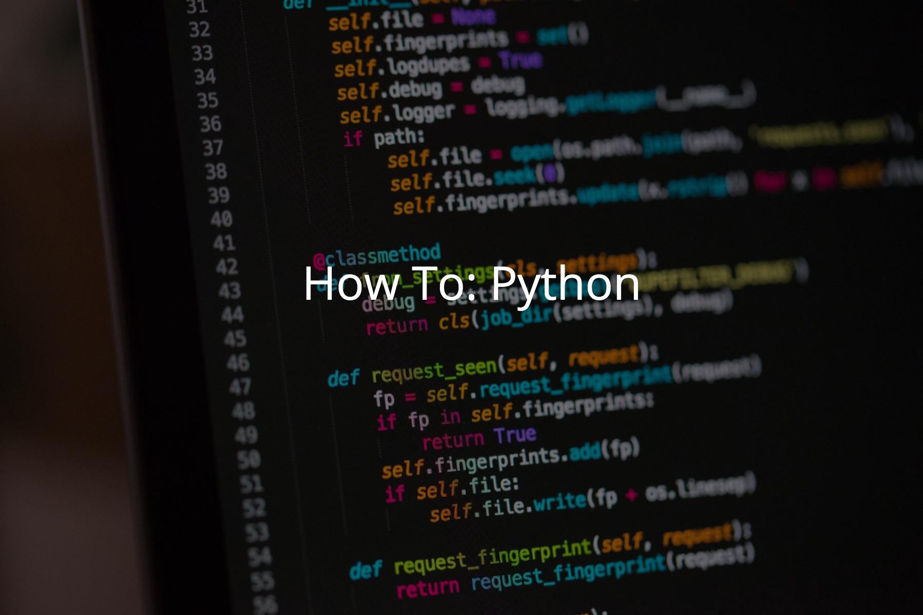 How to Install Python 3
